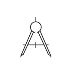 Compass tool outline icon vector