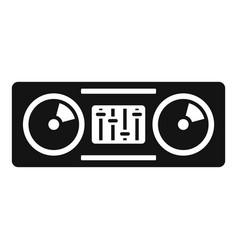 Concert dj console icon simple style vector