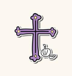 Crosses of christian religion set of divine vector