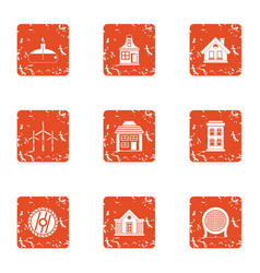 Disconnect icons set grunge style vector