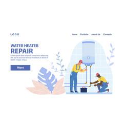 Diverse plumbers repairing vector