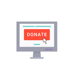 donate poster web in screen vector image