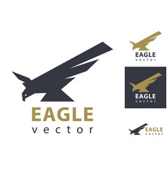 eagle logo template eagles flying isolated vector image