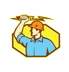 Electrician Wielding Lightning Bolt vector image vector image