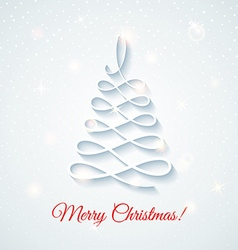 Festive card with Christmas tree vector image