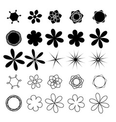 Flower set image vector