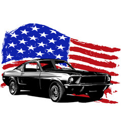 Graphic design of an american vector
