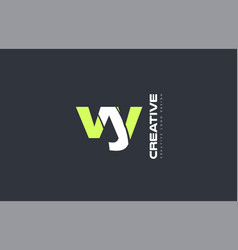 green letter vy v y combination logo icon company vector image