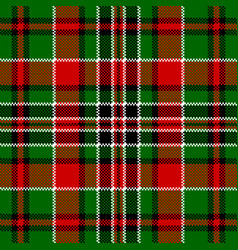 Green red check square pixel seamless pattern vector