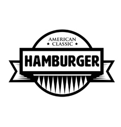 Hamburger - American Classic vintage stamp vector