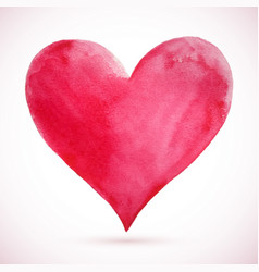 heart pink natural watercolor vector image