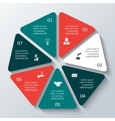 heptagon infographic vector image
