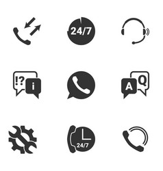 Icons for theme call centersupport service vector