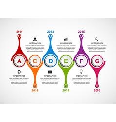 Infographics design template Timeline concept vector