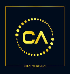 initial letter ca logo template design vector image