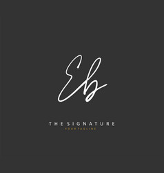 Initial letter handwriting and signature logo vector