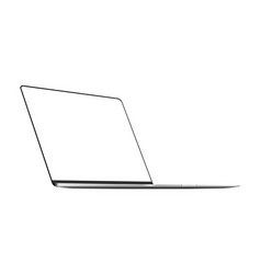 laptop silver mockup with blank frameless screen vector image