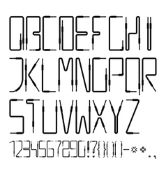 Latin alphabet from the audio cables vector