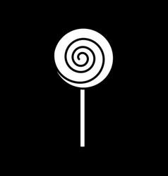 Lollipop dark mode glyph icon vector