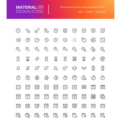 material design icons set vector image