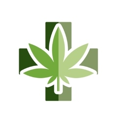 Medical marijuana flat icon vector