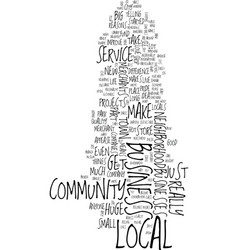 merchants reach out text background word cloud vector image