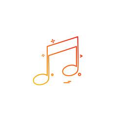 music player audio icon vector image