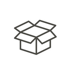 open box icon line package symbol vector image