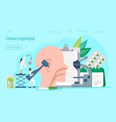Otolaryngologist web template for landing vector