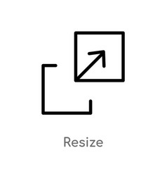Outline resize icon isolated black simple line vector