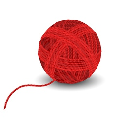Red yarn ball vector