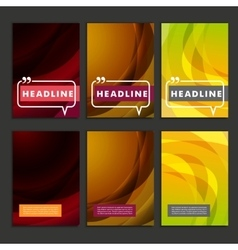 Set abstract bright colors brown and yellow vector