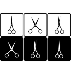 set with scissors vector image