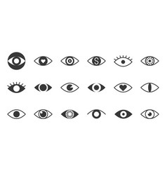 simple glyph eye icon pixel perfect vector image