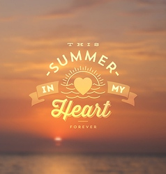 Summer holidays type design vector