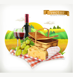 Time for a picnic nature outdoor recreation a vector
