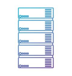 Tower server isometric icon vector