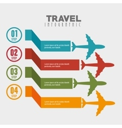 travel infographic design vector image