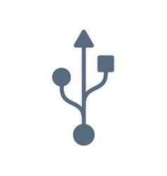 usb symbol icon isolated on white background vector image