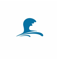 Water wave symbol vector