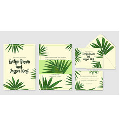 Wedding invite envelope rsvp holiday card vector