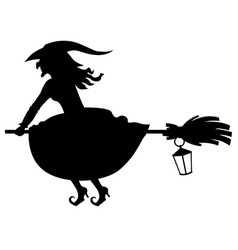 witch lantern vector image