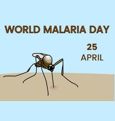 World malaria day vector