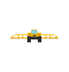 Yellow agricultural machinery for seeding or field vector