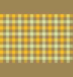 yellow brown check fabric texture background vector image