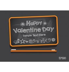 Blackboard Valentine s Day Background vector image