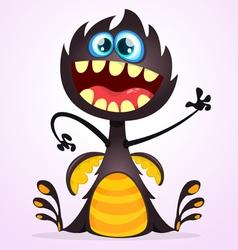 Cartoon dragon monster vector