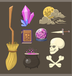 special magic effect trick symbol magician wand vector image vector image
