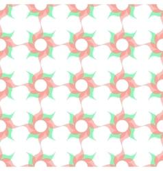 Stylized Twirled Flower Trellis Background vector image