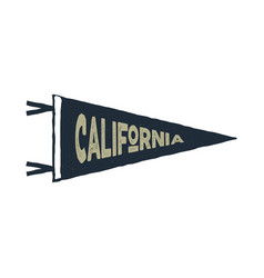 vintage hand drawn pennant template california vector image vector image